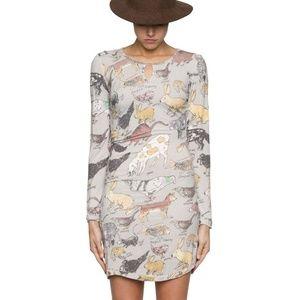 Arabella Ramsay feral animal print dress